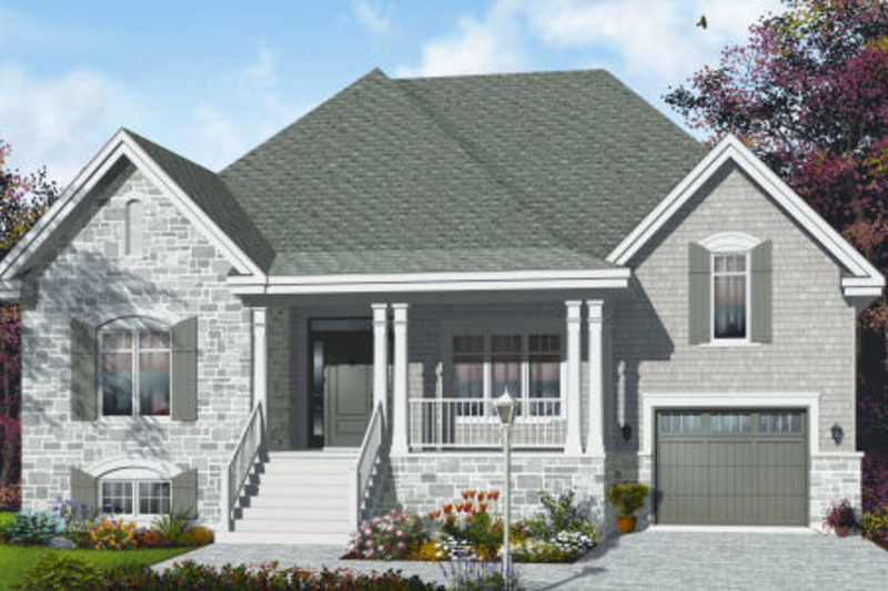 Country Exterior - Front Elevation Plan #23-2231