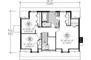 Cottage Style House Plan - 3 Beds 2 Baths 1833 Sq/Ft Plan #25-4250 Floor Plan - Upper Floor Plan