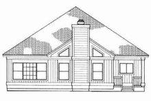 House Blueprint - Traditional Exterior - Rear Elevation Plan #72-323