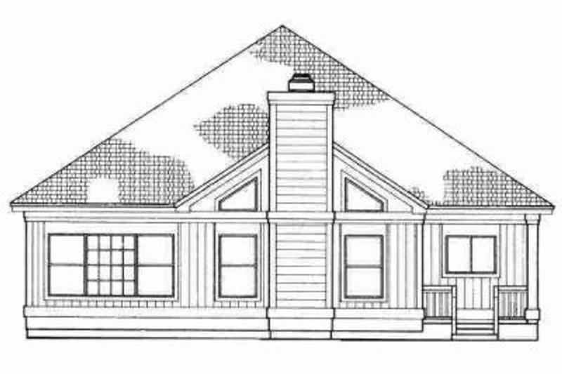 Traditional Exterior - Rear Elevation Plan #72-323 - Houseplans.com