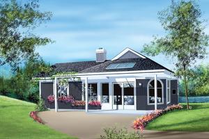Cottage Exterior - Front Elevation Plan #25-1108