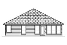 Dream House Plan - Traditional Exterior - Rear Elevation Plan #84-353