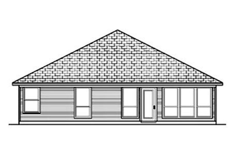 Traditional Exterior - Rear Elevation Plan #84-353 - Houseplans.com