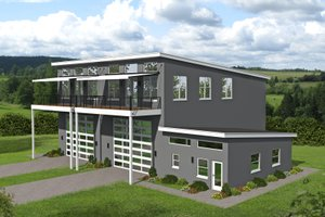 Contemporary Exterior - Front Elevation Plan #932-151