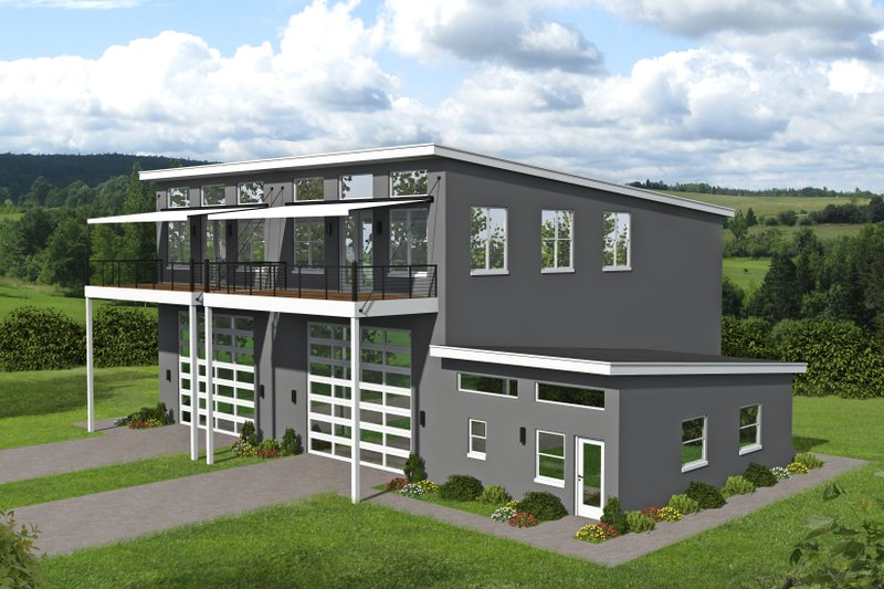 Home Plan - Contemporary Exterior - Front Elevation Plan #932-151