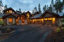 Craftsman style house design, front elevation photo