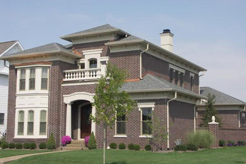 European Style House Plan - 3 Beds 4 Baths 4118 Sq/Ft Plan #458-18 Exterior - Front Elevation