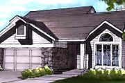 Country Style House Plan - 3 Beds 2.5 Baths 1448 Sq/Ft Plan #320-437 Exterior - Front Elevation