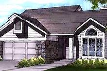 Home Plan - Country Exterior - Front Elevation Plan #320-437