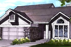 Country Exterior - Front Elevation Plan #320-437