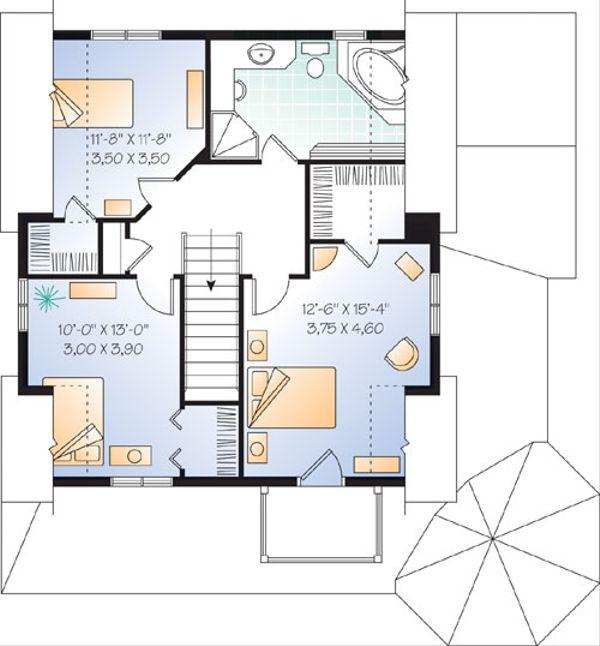 Farmhouse Floor Plan - Upper Floor Plan Plan #23-2170