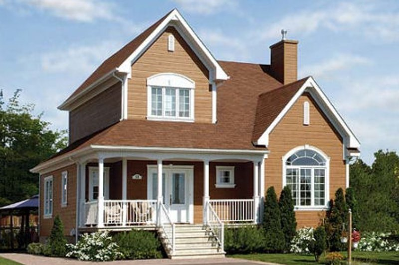 Farmhouse Exterior - Front Elevation Plan #23-735