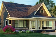 Architectural House Design - Craftsman Exterior - Rear Elevation Plan #51-1173
