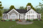 Traditional Style House Plan - 4 Beds 3.5 Baths 2000 Sq/Ft Plan #56-573 Exterior - Rear Elevation