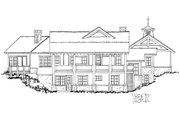 Country Style House Plan - 3 Beds 2.5 Baths 2044 Sq/Ft Plan #942-24 Exterior - Rear Elevation