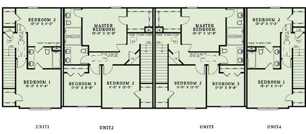 European Floor Plan - Upper Floor Plan Plan #17-2455