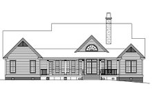Country Exterior - Rear Elevation Plan #929-20