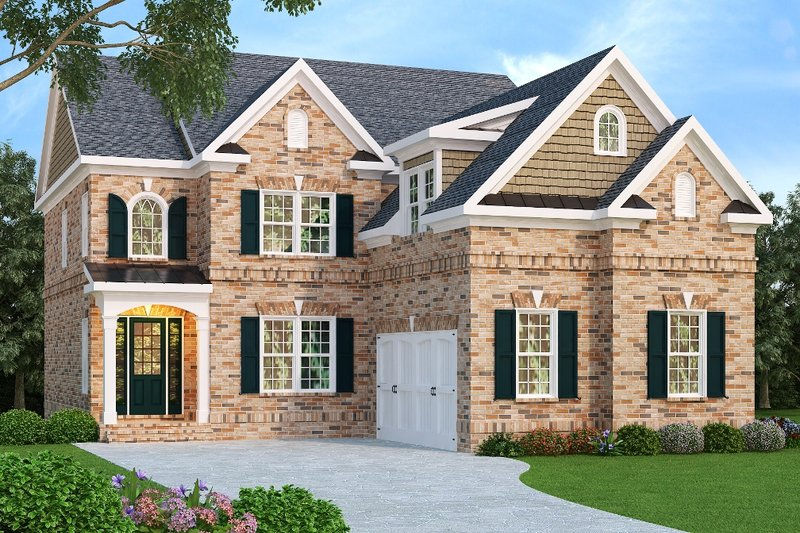 Dream House Plan - European Exterior - Front Elevation Plan #419-156