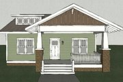 Craftsman Style House Plan - 3 Beds 2.5 Baths 1860 Sq/Ft Plan #461-10 Exterior - Other Elevation