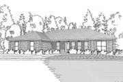 Prairie Style House Plan - 3 Beds 2 Baths 2042 Sq/Ft Plan #63-398 Exterior - Front Elevation