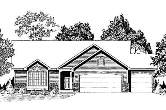 Traditional Exterior - Front Elevation Plan #58-177