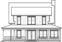 Home Plan - Traditional Exterior - Rear Elevation Plan #23-822