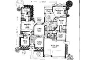 Colonial Style House Plan - 3 Beds 3 Baths 2393 Sq/Ft Plan #310-727 Floor Plan - Main Floor