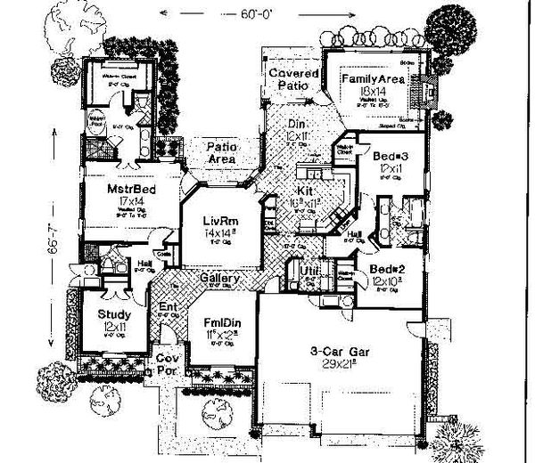 Colonial Floor Plan - Main Floor Plan #310-727