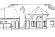 European Style House Plan - 4 Beds 3 Baths 2946 Sq/Ft Plan #72-170 Exterior - Rear Elevation
