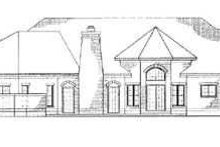 European Exterior - Rear Elevation Plan #72-170
