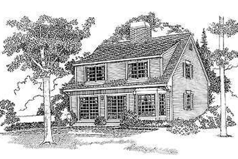 Colonial Exterior - Rear Elevation Plan #72-114 - Houseplans.com