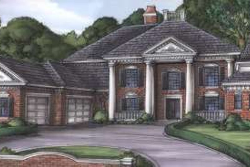 Colonial Style House Plan - 5 Beds 6 Baths 5218 Sq/Ft Plan #115-174
