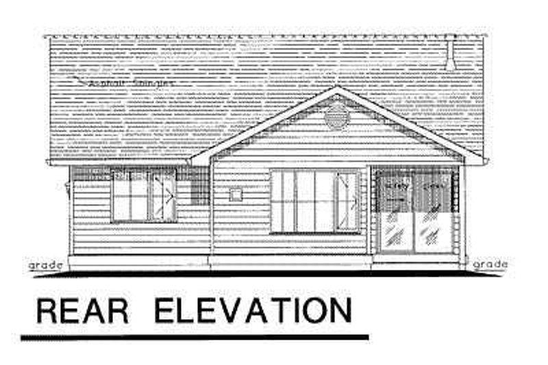 Ranch Exterior - Rear Elevation Plan #18-1029 - Houseplans.com