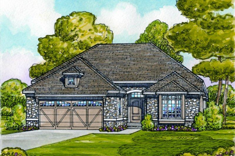 House Plan Design - European Exterior - Front Elevation Plan #20-2069