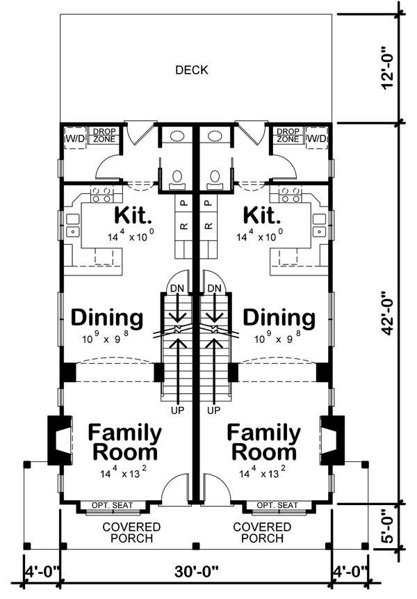 House Plan Design - Country Floor Plan - Main Floor Plan #20-2383