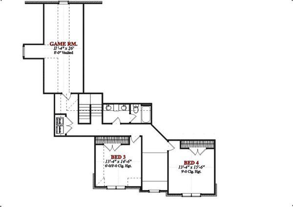 European Floor Plan - Upper Floor Plan Plan #63-212