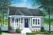 Cottage Style House Plan - 2 Beds 1 Baths 780 Sq/Ft Plan #25-155 Exterior - Front Elevation