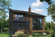 Contemporary Style House Plan - 3 Beds 1 Baths 1296 Sq/Ft Plan #25-4599 Exterior - Front Elevation
