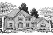 European Style House Plan - 3 Beds 3 Baths 2845 Sq/Ft Plan #70-458 Exterior - Front Elevation