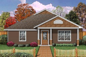 Cottage Exterior - Front Elevation Plan #84-493
