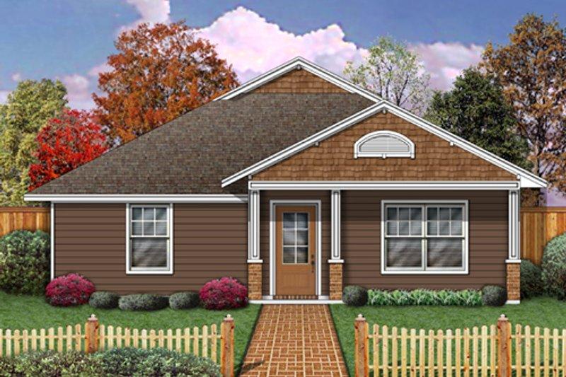 Cottage Exterior - Front Elevation Plan #84-493