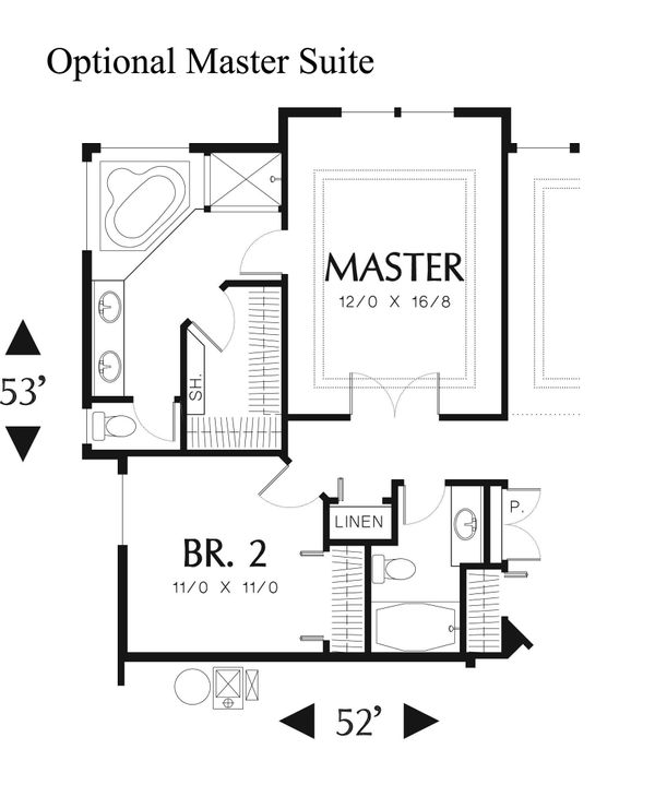 Ranch Floor Plan - Other Floor Plan Plan #48-592