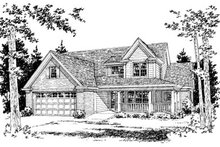 House Plan Design - Traditional Exterior - Front Elevation Plan #20-377