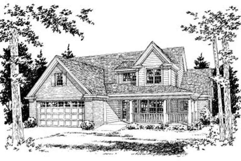 Traditional Exterior - Front Elevation Plan #20-377 - Houseplans.com