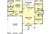 Farmhouse Style House Plan - 3 Beds 2 Baths 1398 Sq/Ft Plan #430-200 Floor Plan - Main Floor