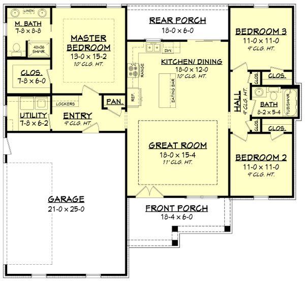 Dream House Plan - Farmhouse Floor Plan - Main Floor Plan #430-200