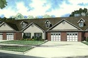 Traditional Style House Plan - 3 Beds 2 Baths 7600 Sq/Ft Plan #17-2282 Exterior - Front Elevation