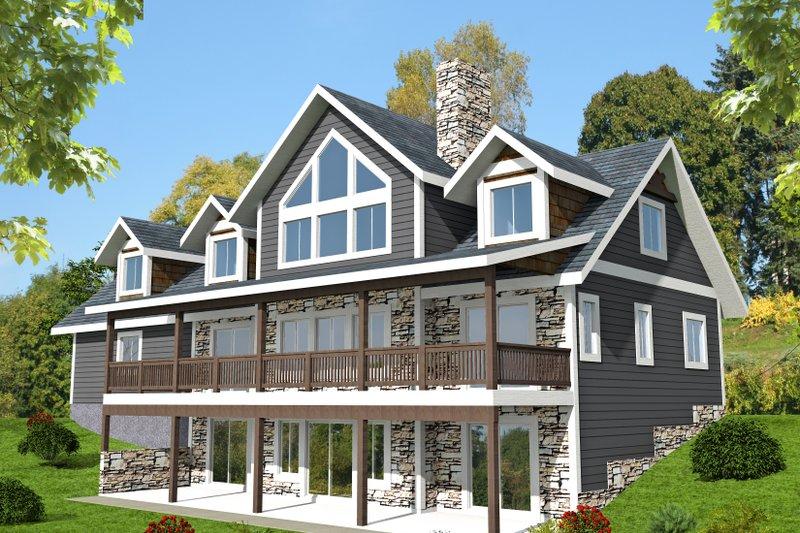 Dream House Plan - Craftsman Exterior - Front Elevation Plan #117-895
