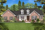 Country Style House Plan - 3 Beds 2 Baths 1600 Sq/Ft Plan #430-18 Exterior - Front Elevation