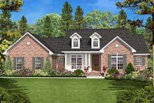 Dream House Plan - Country Exterior - Front Elevation Plan #430-18